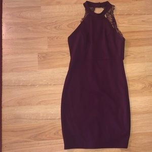 Lulus maroon/purple lace back dress
